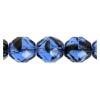 Fire Polished 10mm Blue Tortoise